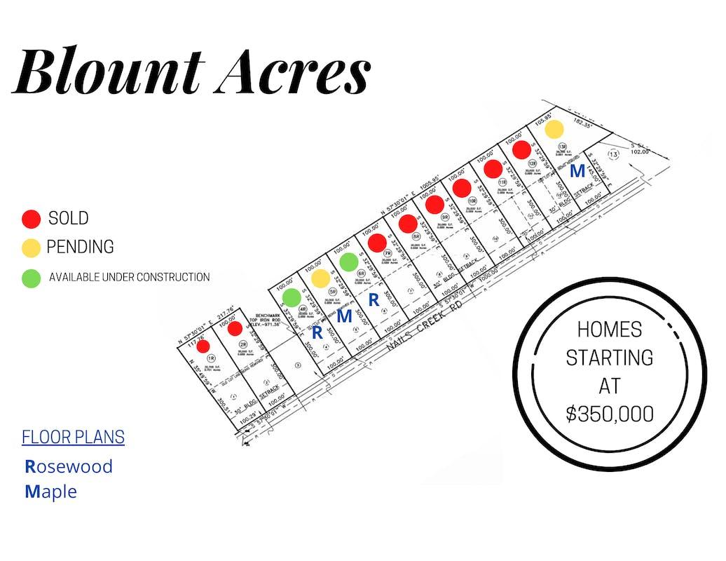 Blount Acres Plat Map