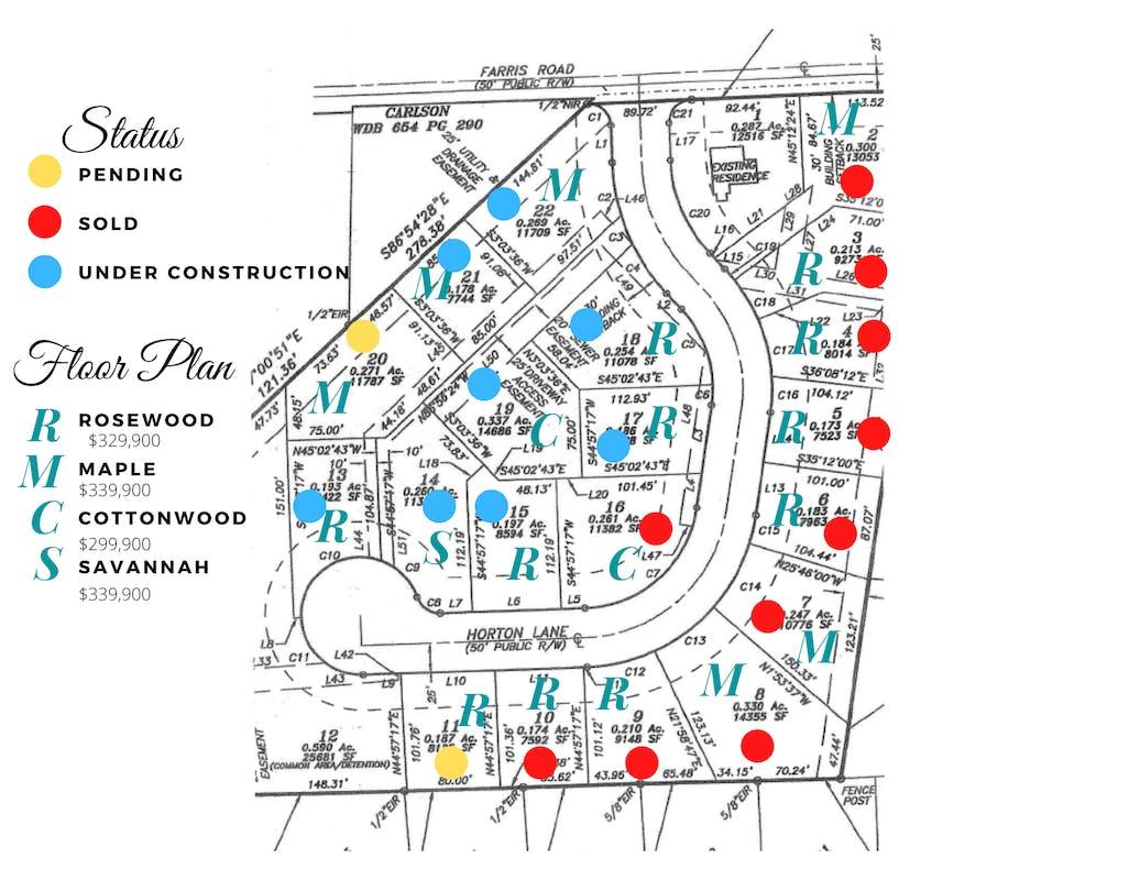 Farris Meadows Plat Map